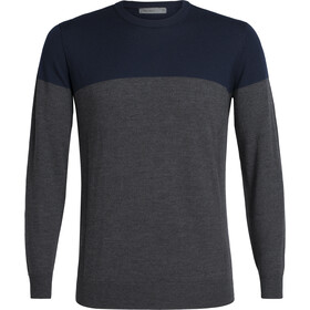Icebreaker Shearer Felpa girocollo Uomo, midnight navy/char heather